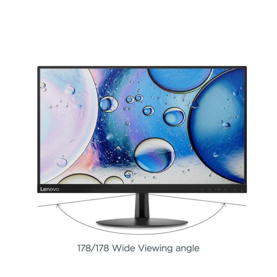 Lenovo 21.5 inch Near Edgeless Monitor with LED Display, VA Panel, AMD Free Synch, HDMI and VGA inputs, TUV Certified Eye Comfort - L22e-20 (Raven Black)