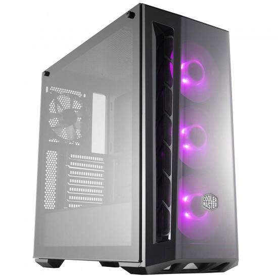 Cooler Master MasterBox MB520 RGB Steel/Plastic/Tempered Glass ATX Mid Tower Computer Case (Black)