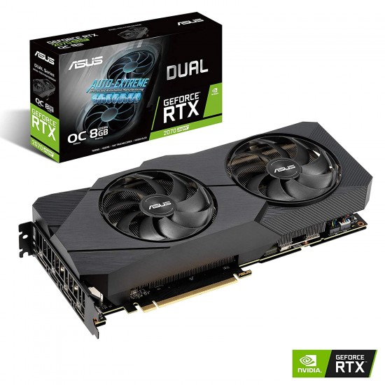 ASUS GEFORCE RTX 2070 SUPER 8GB GDDR6 DUAL-FAN EDITION GAMING GRAPHICS CARD