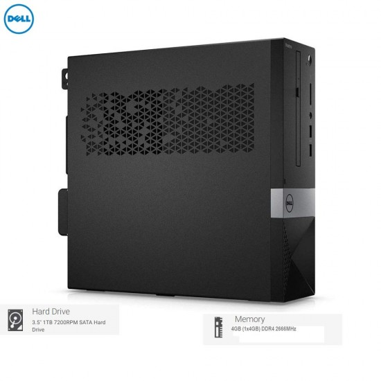"Dell  Desktop Vostro 3471 9th Gen Intel Core i3  (4GB/1TB HDD/Windows 10/WiFi) (Black, 3 Years Warranty) (Desktop with Dell E1916HV 18.5"" Monitor)"